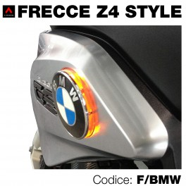 Frecce led arancio moto BMW-Z4 style 70 mm