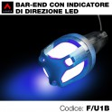 Terminali manubrio bar ends led blu