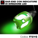Terminali manubrio bar ends led verde
