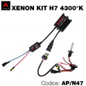 Kit xenon moto 4300°K H7