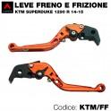 Kit leva frizione e leva freno arancione KTM