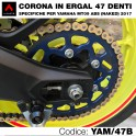 Corona in ergal 47 denti per Yamaha MT09 ABS Naked 2017
