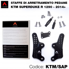 Staffe di arretramento pedane - KTM 1290 Superduke